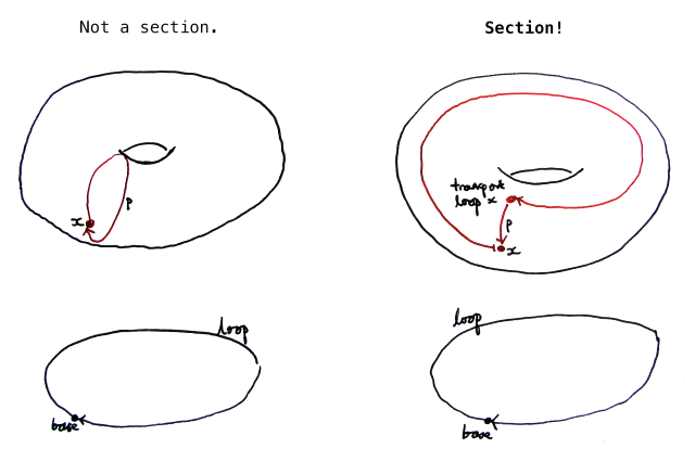 Sections of a fibration over the circle